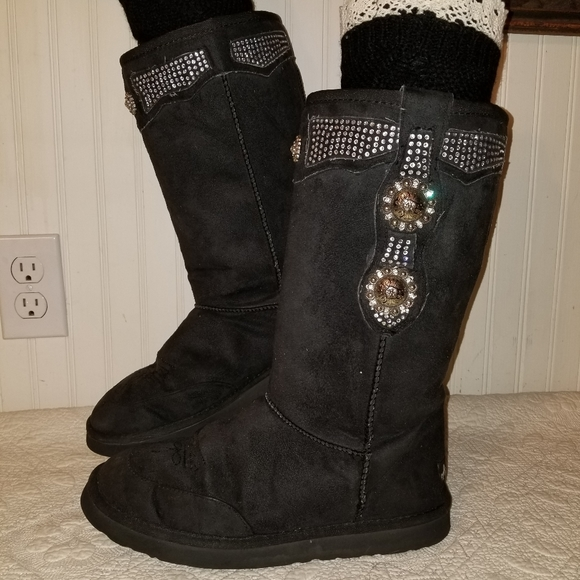 Montana West Kids Micro Suede Winter Snow Boots Western Cowgirl Faux Fur Lining